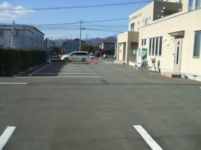 広い駐車スペース